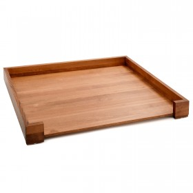 ALPHA design dog bed beech walnut, 100 x 80 cm