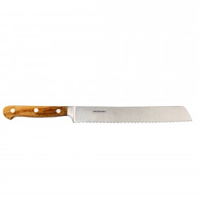 Professional bread-knife with olive wood handle, 32 cm