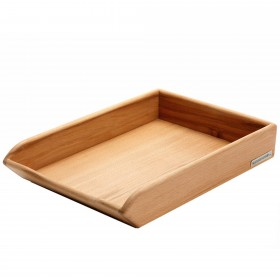 CLASSIC desk tray beech wood, 35 x 25 x 8 cm