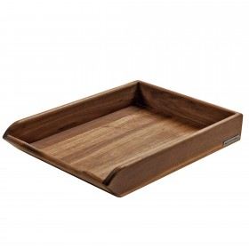 CLASSIC wooden tray walnut, 35 x 25 x 8 cm