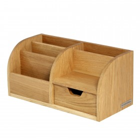 CLASSIC office butler desktop organizer oak wood
