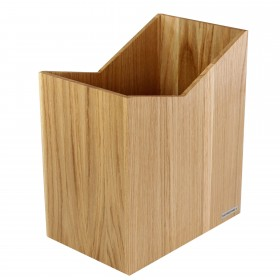 SKRIPT paperwaste basket oak wood, 20 x 35 x 30 cm