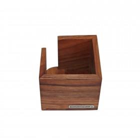 CLASSIC memo box walnut wood, 11.5 x 11.5 x 9,5 cm