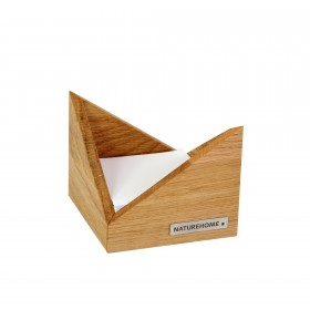 SKRIPT memo box oak wood, 9,5 x 9,5 cm