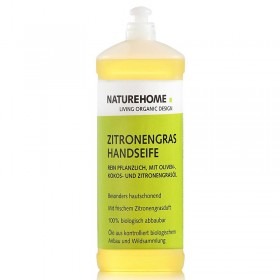 Organic hand soap with a fresh lemongrass scent 1 Liter