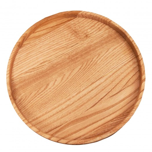 Servier-Tablett rund Kastanie, 30 cm