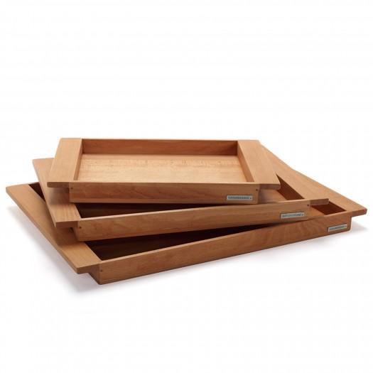 3er Set NH-E Holztablett Buche, alle 3 Größen