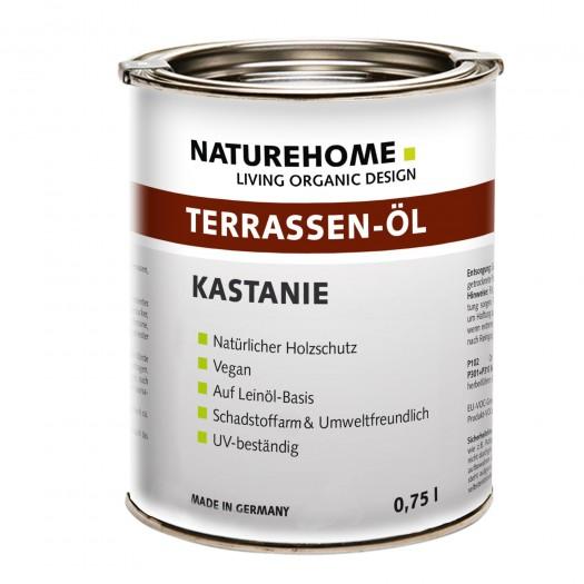 Terrassen-Öl Holzöl für Außenbereich verschiedene Farben 0,75 l Kastanie