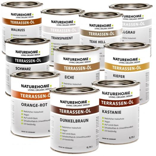 Terrassen-Öl Holzöl für Außenbereich 750 ml, div. Farben