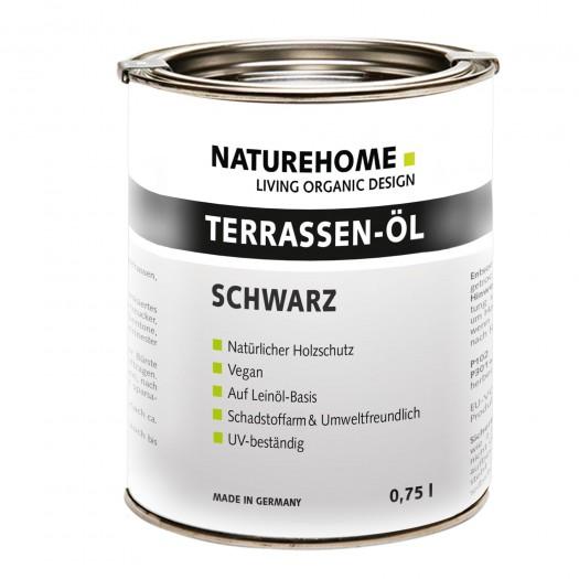 Terrassen-Öl Holzöl für Außenbereich verschiedene Farben 0,75 l Schwarz