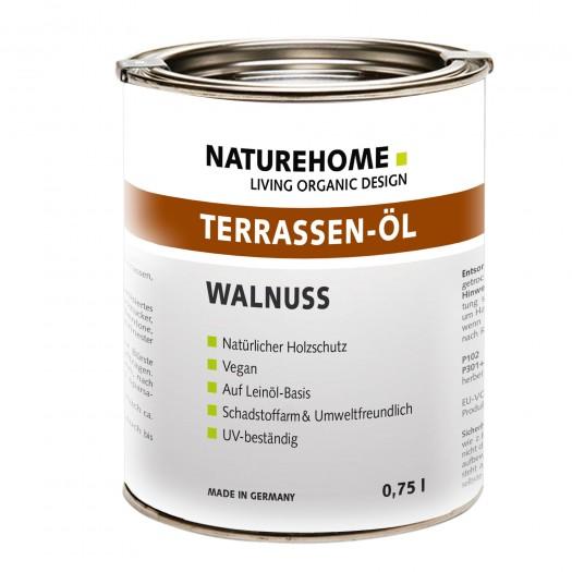 Terrassen-Öl Holzöl für Außenbereich verschiedene Farben 0,75 l Walnuss