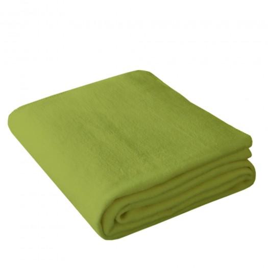 Wohndecke OLE 150x200cm in Moosgrün aus 100% Baumwolle (BIO)