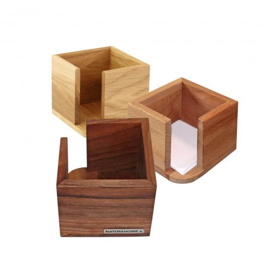 CLASSIC Zettelbox 11 x 11 x 9 cm, div. Holzarten