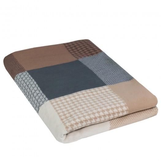 Wohndecke MATEO aus 100% Bio-Baumwolle (Jacquard), 140 x 200 cm