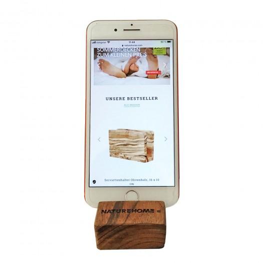 Handy-Halter Holz Nussbaum 8 x 5 x 2,5cm