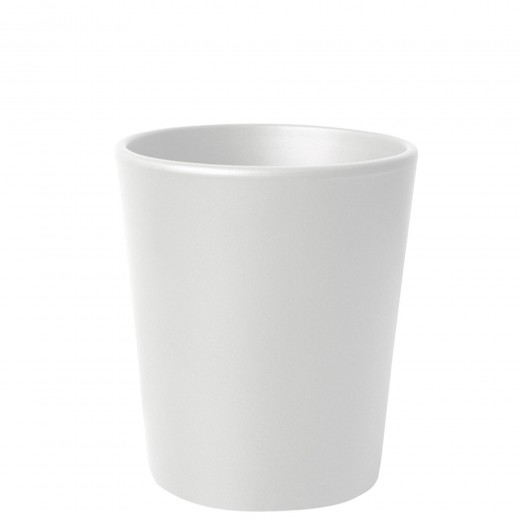 Blumentopf Übertopf Keramik Weiß Matt Ø 19 cm