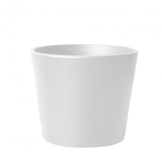 Blumentopf Übertopf Keramik Weiß Matt Ø 16 cm