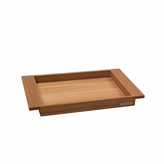 Tablett Nuss Vollholz 44,5 x 28,5 cm von NATUREHOME