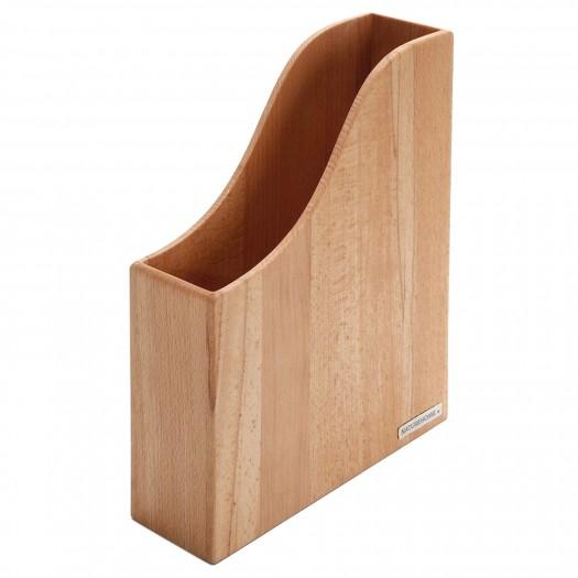 Holz-Stehsammler Buche, A4 von NATUREHOME