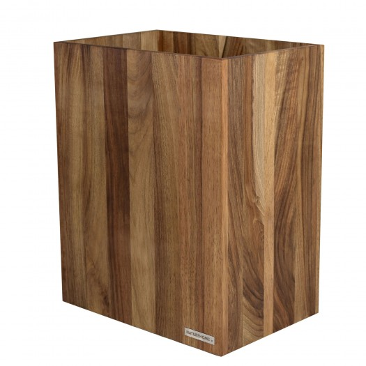 Papierkorb CLASSIC Nussbaum-Holz Natur geölt
