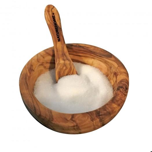 Zuckerschale ca. 10 cm mit Löffel Olivenholz