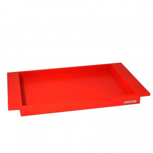 Holztablett Buche rot NH-E2