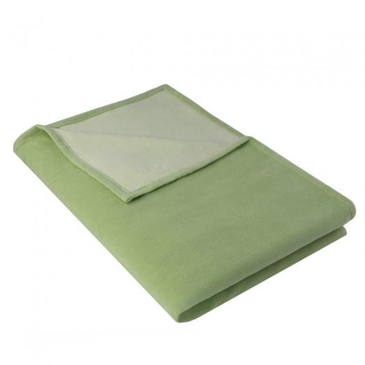 Wohndecke IDA aus 100% Bio-Baumwolle, 140 x 200 cm, Lindgrün