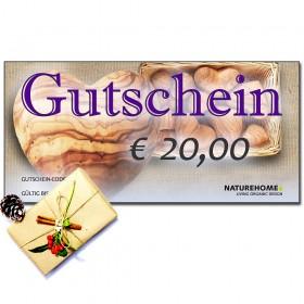 Geschenk-Gutschein, Wert: 20 EUR