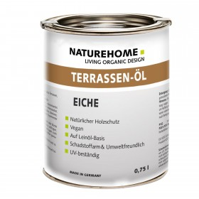Terrassen-Öl Holzöl für Außenbereich verschiedene Farben 0,75 l Eiche