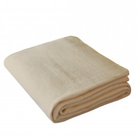 Wohndecke Ole 150x200cm in Beige aus 100% Baumwolle (BIO)