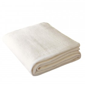 Wohndecke OLE 150x200cm in Wollweiß aus 100% Baumwolle (BIO)