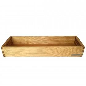 Kerzen-Tablett Kastanie, 45 x 15 cm