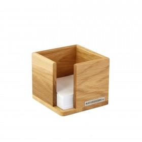 Zettelbox CLASSIC Eichen-Holz 11,5 x 11,5 x 9,5  cm