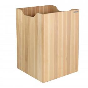 ECO Papierkorb Buche, 30 x 30 x 40 cm