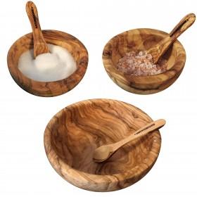 Spar-Sets: Schale mit Löffel Olivenholz