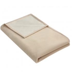 Wohndecke IDA aus 100% Baumwolle Bio, 140 x 200 cm, Sand