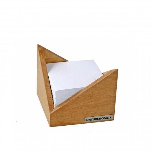 "Zettelbox ""Skript"" Holz Buche 9,5 x 9,5 cm, ohne Deko"