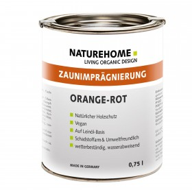 Zaunimprägnierung für Außenbereich 0,75l Orangerot