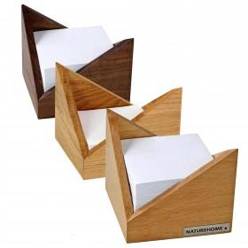 SKRIPT Zettelbox 9,5 x 9,5 cm, div. Holzarten