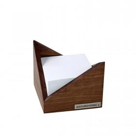 SKRIPT Zettelbox Nussbaum, 9,5 x 9,5 cm