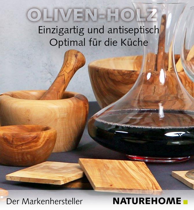 Küchenaccessoires aus Olivenholz