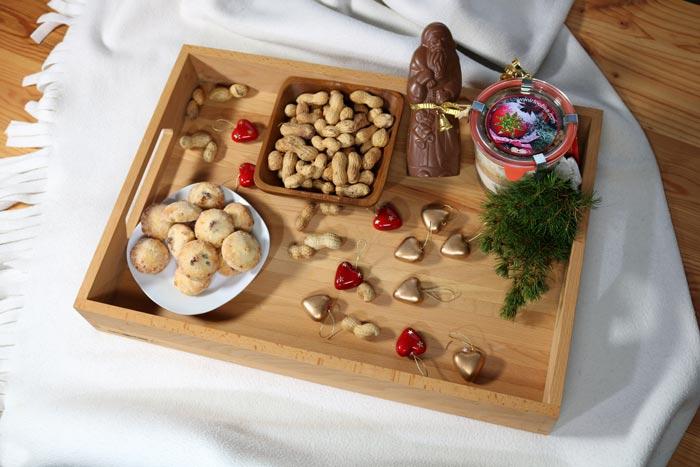 Holztablett Weihnachten Tischdeko 2018