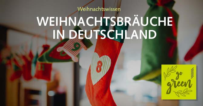 Weihnachtsbräuche in Deutschland