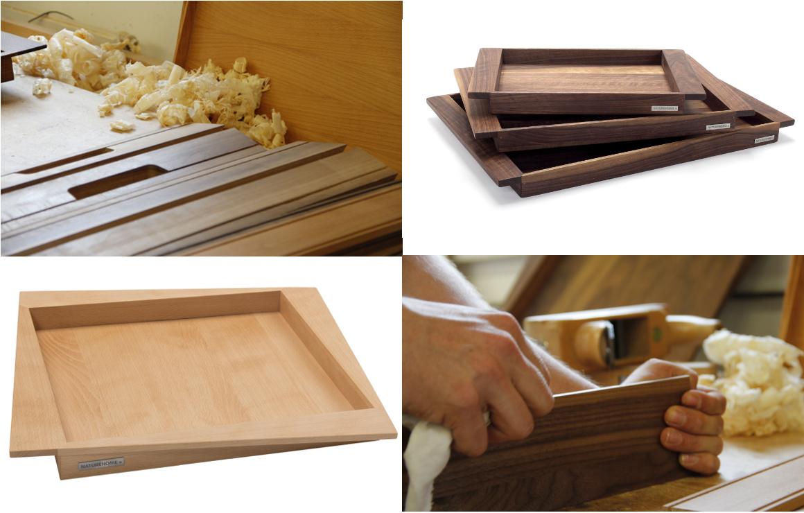 Unsere Geschichte eines Holztabletts
