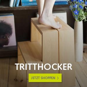 Tritthocker Massivholz