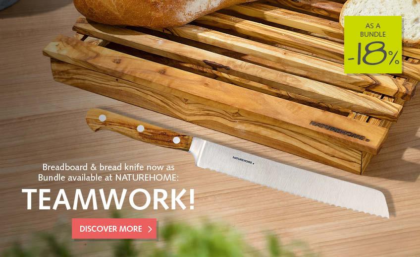 bundle bread cutting board + knife