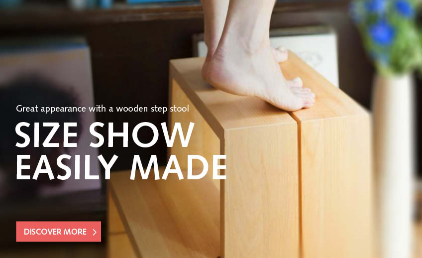 Step stool made of solid wood