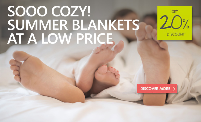 20% discount of all summer-blankets