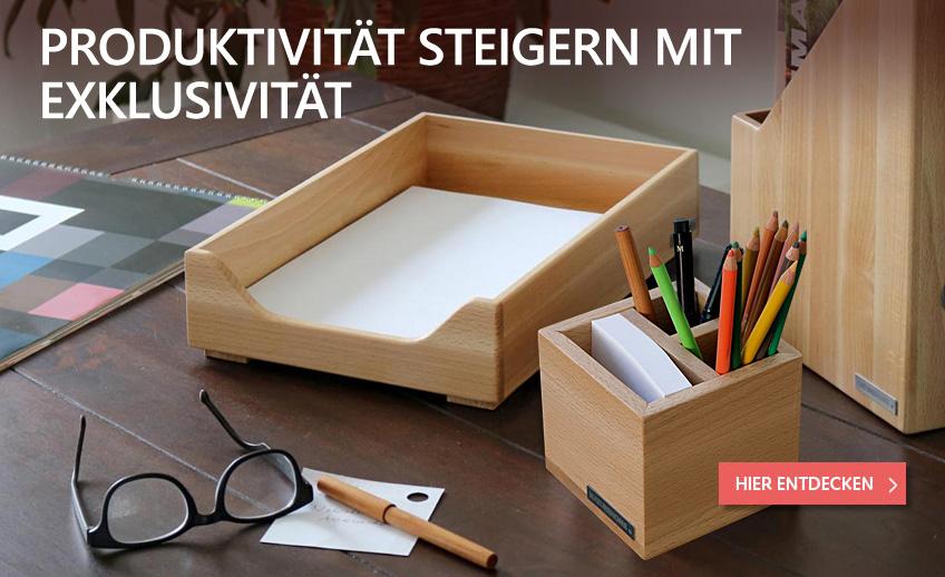 Nachhaltige Schreibtisch-Accessoires aus Holz