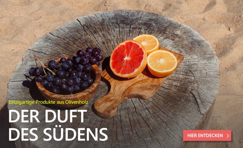 Einzigartige Produkte aus Olivenholz